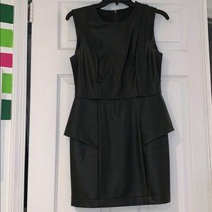 Black leather dress BCBG